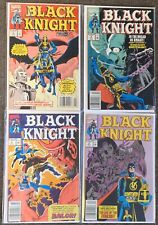 Black Knight #1,2,3,4 Marvel Comics Complete Mini Set 1990 Roy Thomas Avengers