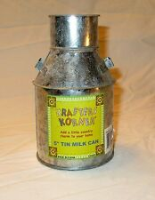 "Vintage Tin Can Milk Cream Crafts Centerpiece Vase Candle Holder 5"" NEW"