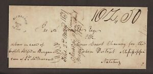 Louisiana: Alexandria 1831 Stampless Cover, Rimless CDS, 1 oz 50c Rate, 4x Rate!
