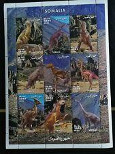 Sellos Somalia .Hoja  bloque.Nueva  MNH. Dinosaurios. 2002