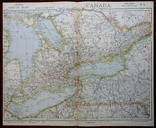 Ontario Canada Toronto Kingston Niagara Falls Lake Erie 1881 Letts map