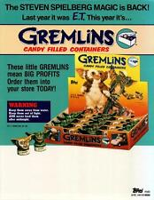 Gremlins Candy Filled Containers Dealer Sell Sheet Sale Ad 1984 Topps