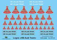 [FFSMC Productions] 1/43 Decals Logos HB Team Audi (with metallic gold)