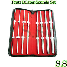 Surgical PRATT DILATOR Sounds Set OF 8 Pcs Dual-Ended STRAIGHT