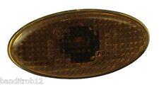 Large Slim Oval Fairing Motorcycle Indicators SMOKED Lens