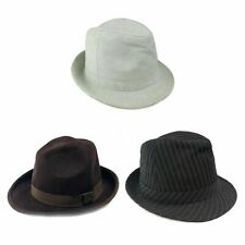 Wool Hat Trilby Fedora Multi-Coloured Faux Classic Hats 3 Pcs Casual Wear Unisex