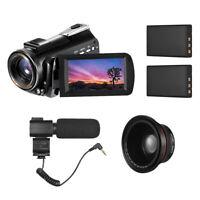 "UHD WIFI 4K 30X Digital Video Camera Camcorder DV Recorder 24MP IR 3.0"" LCD W8H2"