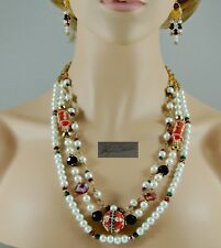 NEW  Multi Style Crystal Pearl Necklaces & Earrings Wear Together or Separately!
