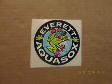 Northwest League Everett Aquasox Vintage Circa 1990's Team Logo Baseball Sticker