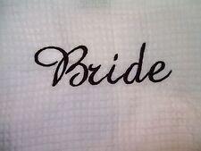 TERRY TOWN White Waffle Weave Kimono Robe - Personalized - Bride