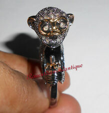 Silver Victorian Monkey Design Party Ring Latest 3.90ct Antique Rose Cut Diamond