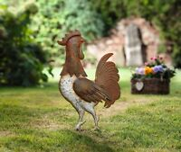 Free Standing Country Rooster Garden Stake Yard Art