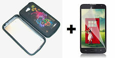 LG Optimus Exceed 2 VS450PP Hybrid Phone Case+Screen Protector - Snow Flakes