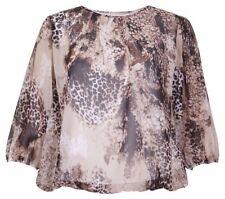 Camisas y tops de mujer blusa de color principal marrón talla 42