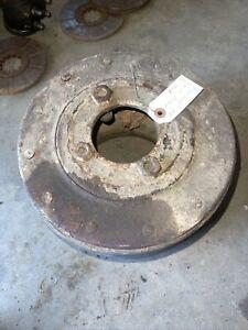 Farmall H HV M Tractor ORIGINAL IH flat belt pulley w/ bolts