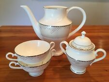 Waterford Giselle Platinum Sugar Bowl & Lid, Coffee Pot NO Lid, Two Compote Bowl