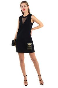 RRP €295 VERSACE JEANS COUTURE Mini Shift Dress Size 40 / S Stretch Black