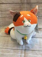"Disney 10"" Mochi Cat Plush Big Hero 6 Robot Movie Cute Calico Seated Huge Tail"