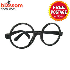 AC714 Black Round Glasses Gryffindor Harry Potter Book Week Costume Accessory