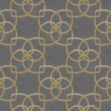Marrakech Papier Peint Géométrique Doré/Gris - Muriva 601537 Metalique