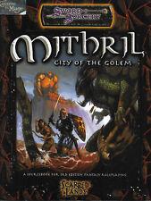 DUNGEONS & DRAGONS D20 SCARRED LANDS - Mithril, City of Golem *RPG*