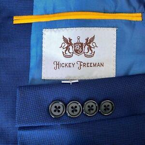 Hickey Freeman Milburn II 100% Wool Blazer Sport Coat Jacket Blue Men's 44 R