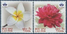 "Laos N°1713/1714 Flowers ,"" China 2009 "" Flowers Sc#1778-1779 MNH"