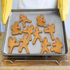 3pcs Ninja Bread Cookie Cutters Molder Kung Fu Bakeware Baking Kids Party Q