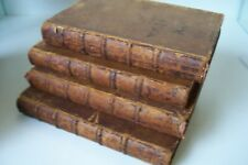 "1750 ""WORKS OF JAMES THOMSON"" 4 VOLUMES FULL LEATHER FIRST EDITION"
