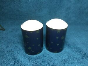 Sakura Galaxy Blue w/14K Gold Stars Dinnerware - Salt & Pepper