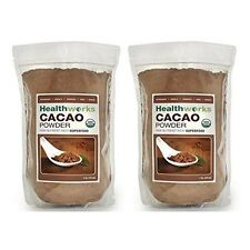 Healthworks Cacao Powder Raw Organic, 2lb (2 1lb Packs)