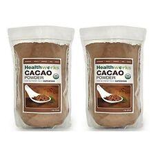 Healthworks Cacao Powder Raw Organic, 2lb (2 1lb Packs)