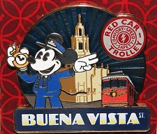 DISNEY MICKEY BUENA VISTA ST RED CAR TROLLY 3D PIN JUST RELEASED NEW ON CARD