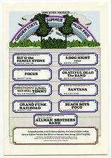 GRATEFUL DEAD Allman Bros Band THE BAND T Rex GRAND FUNK 1973 Concert Handbill
