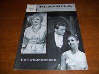 MARCH 1958 PLAYBILL - TIME REMEMBERED - HELEN HAYES RICHARD BURTON S STRASBERG