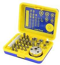 Goodyear 27 pièce ratchet socket & tournevis set gy900150 grande outils à main set