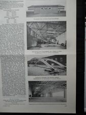 1914 San Remo Flughafen Flugzeughallenbau