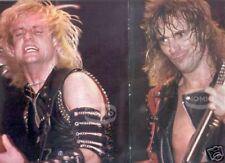 Judas Priest Poster guitar vintage 80s magazine foldout
