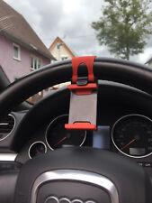 Rot Universal Handy KFZ Auto Lenkrad Halter Halterung für Iphone Samsung PD