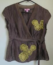 MONSOON - stunning silk & linen blend top - size 12 - beautiful condition