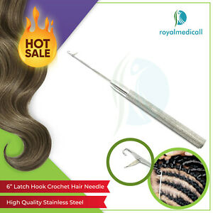 New Pro  Classic Hair Extention Latch Hook Crochet Needle for Micro Braid Hair