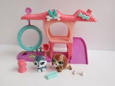 Littlest Pet Shop Playful Puppy House 2035 Dachshund 2036 Husky Complete