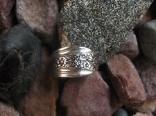 Floral Band Antique Spoon Ring  R366 Size 8.75 Western Skies Silver