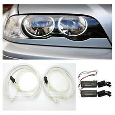Bmw E46 1998 - 2005 non Proyector Reflector Ccfl Angel Eye Kit 6000k Blanco