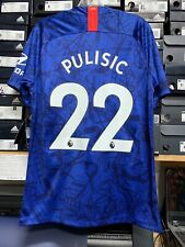 Nike Chelsea Fc Home Jersey Blue 19/20 Pulisic #22 Stadium Cut Size Medium Only