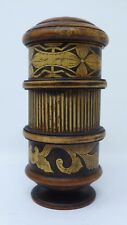 Indonesian / Balinese Handcrafted Wooden Carved Standing Lombok Container Box