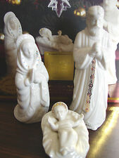 Lenox Porcelain Nativity China Jewels Holy Family and Donkey NIB