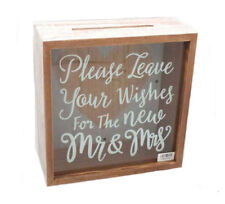 Decorative Wooden WISHING WELL Wedding Engagement Card Box New