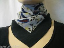 Seta-Panno Paisley scarf silk seta Paisley nickytuch Bandana Grigio-Blu