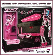 Monster High Draculaura Doll & Jewelry Box Coffin Bed Coleccionable Exclusivo Juego